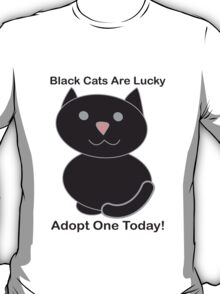 Black Cat Adoption T-Shirt