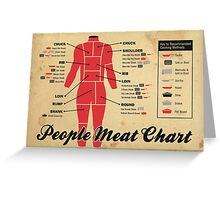 People meat chart Greeting Card