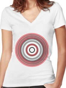 Deep Circle  Women's Fitted V-Neck T-Shirt