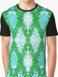 Ottoman Leaves in Turquoise sensations Graphic T-Shirt
