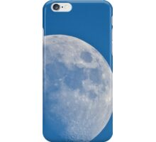 Moon on blue sky. iPhone Case/Skin