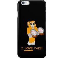 Stamplongnose I Love Cake! Merch iPhone Case/Skin