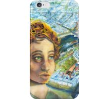 Citizen Jane, the Eiffel and the Hummingbird iPhone Case/Skin