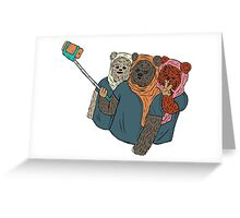 Ewokfie Greeting Card