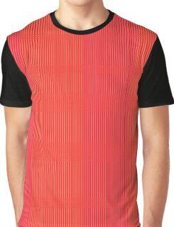 Pink and Orange Pattern Graphic T-Shirt
