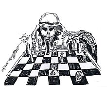 Terrorist Cartoon Photographic Print