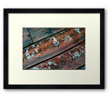 Leaf Reflections on the Deck Framed Print