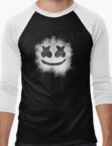 Marshmello Watercolor (Black) Men's Baseball ¾ T-Shirt