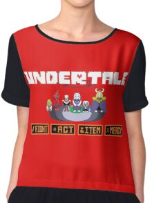 Undertale - Maps Chiffon Top