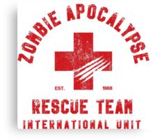 Zombie Apocalypse Rescue Team Canvas Print