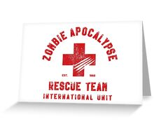 Zombie Apocalypse Rescue Team Greeting Card