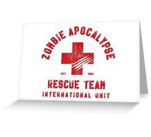 Zombie Apocalypse Rescue Team Greeting Card