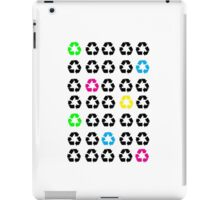 Neon Recycle Symbols iPad Case/Skin