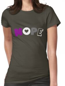 Nope (Asexual) Womens Fitted T-Shirt