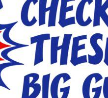 Body Builder Big Guns Fun Gym Lover Quote Sticker