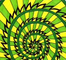 Spiked Striped Spiral (green) T-shirt Sticker