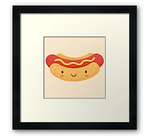 Happy Hot Dog Framed Print