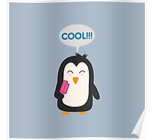 Penguin with popsicles   Poster