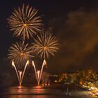 Fireworks at the Fiesta del Carmen 1 by Ralph Goldsmith