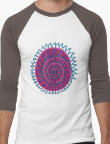 Spiked Striped Spiral (purple) T-shirt Men's Baseball ¾ T-Shirt
