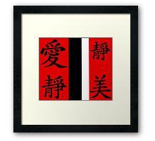 China signs Framed Print