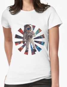 Astro Man Womens Fitted T-Shirt