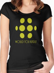 Bioshock - Big Daddy - Would You Kindly Women's Fitted Scoop T-Shirt