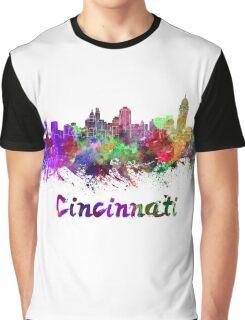 Cincinnati skyline in watercolor Graphic T-Shirt