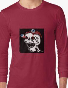 Skull and Eyes Long Sleeve T-Shirt