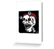 Skull and Eyes Greeting Card