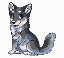 Little Wolf - Grey One Piece - Short Sleeve