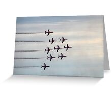 The Famous Red Arrows........Dorset UK Greeting Card