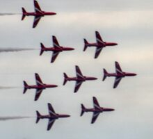 The Famous Red Arrows........Dorset UK Sticker