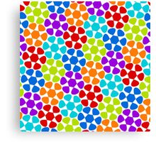 Multi-Colored Flower Pattern Canvas Print