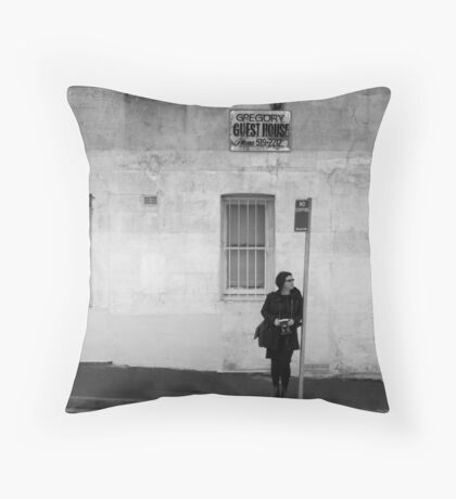 A Photographer in Erskineville Throw Pillow