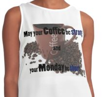 Mondays and coffee Contrast Tank