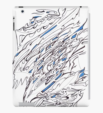 0307 - Blue Fragments in the Great White iPad Case/Skin