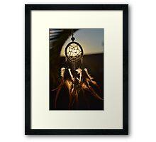 Dreamcatcher at sunset Framed Print