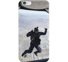 Skydiving jump from the plane iPhone Case/Skin