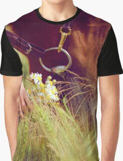 Horse Nose and Chamomile Graphic T-Shirt