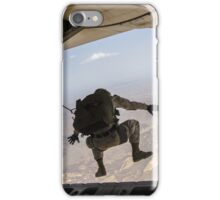 Skydiving jump from the airplane iPhone Case/Skin