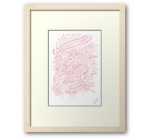 0312 - Red Lines Dancing and Moving Framed Print