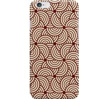 Red and white circle pattern design iPhone Case/Skin