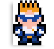 Pixel Captain Commando Canvas Print