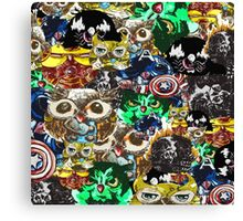 Marvel Owl Collage Canvas Print