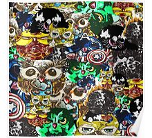 Marvel Owl Collage Poster