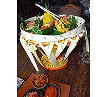 Balinese Traditional Dinner Basket Photographic Print