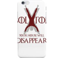 Game of thrones House BOLTON will disappear iPhone Case/Skin