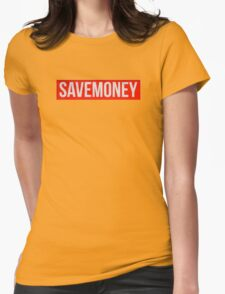 Save money logo vic mensa - 1 red and white Womens Fitted T-Shirt