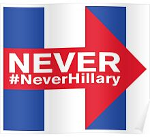 Never Hillary Campaign Logo Poster